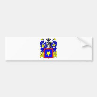 Escudo de armas (español) de Domínguez Pegatina De Parachoque