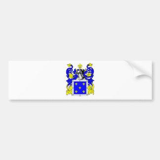 Escudo de armas (español) de Flores Etiqueta De Parachoque