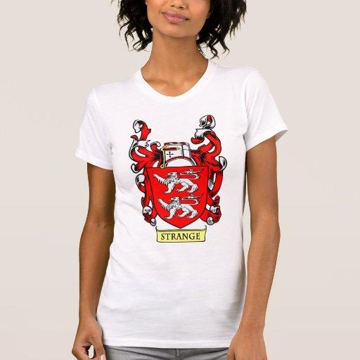 Escudo de armas EXTRAÑO Camiseta