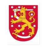 Escudo de armas FI de Finlandia Postal