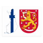 Escudo de armas FI de Finlandia Tarjetas Postales