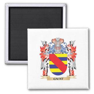 Escudo de armas flaco - escudo de la familia imán cuadrado