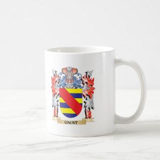 Escudo de armas flaco - escudo de la familia taza de café