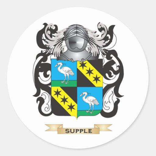 Escudo de armas flexible (escudo de la familia) pegatinas redondas
