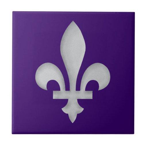Escudo de armas floral romántico Trivet de la flor Azulejo Cuadrado Pequeño