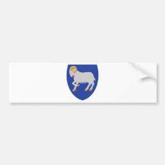 Escudo de armas FO de Faroe Island Pegatina De Parachoque