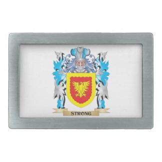 Escudo de armas fuerte - escudo de la familia hebilla cinturon rectangular