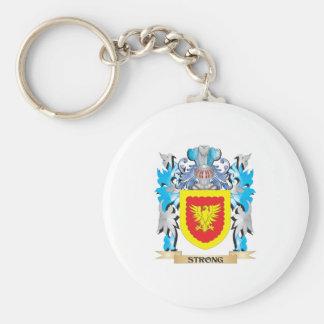 Escudo de armas fuerte - escudo de la familia llaveros personalizados