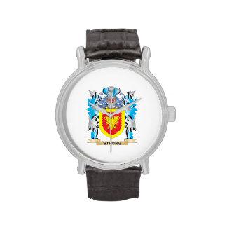 Escudo de armas fuerte - escudo de la familia relojes de pulsera