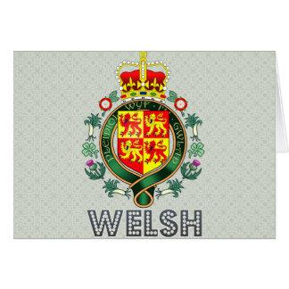 Escudo de armas Galés Tarjeta