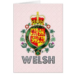 Escudo de armas Galés Tarjeton