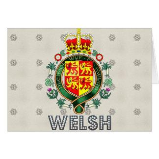 Escudo de armas Galés Tarjetón