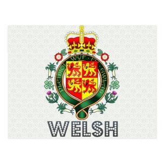 Escudo de armas Galés Tarjetas Postales