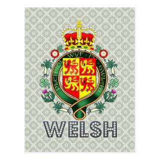 Escudo de armas Galés Postal