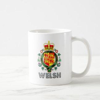 Escudo de armas Galés Taza Básica Blanca