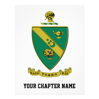 Escudo de armas gamma alfa del funcionario de rho tarjetas informativas
