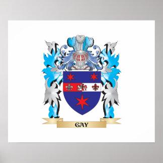 Escudo de armas gay - escudo de la familia posters