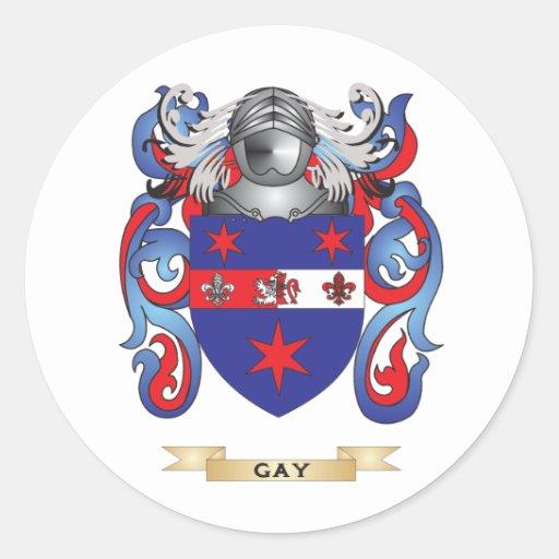 Escudo de armas gay (escudo de la familia) etiquetas