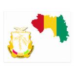 Escudo de armas GN de Guinea Tarjetas Postales