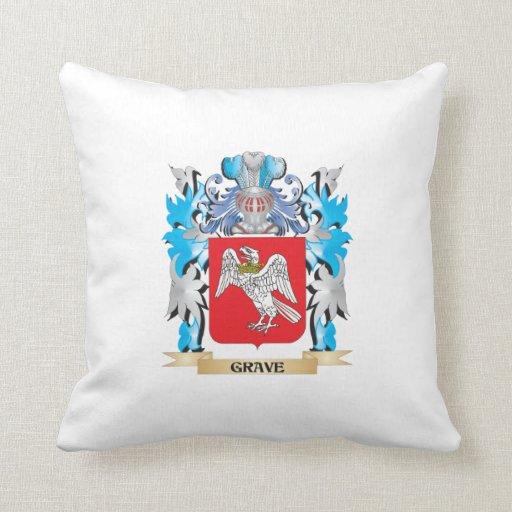 Escudo de armas grave - escudo de la familia cojines