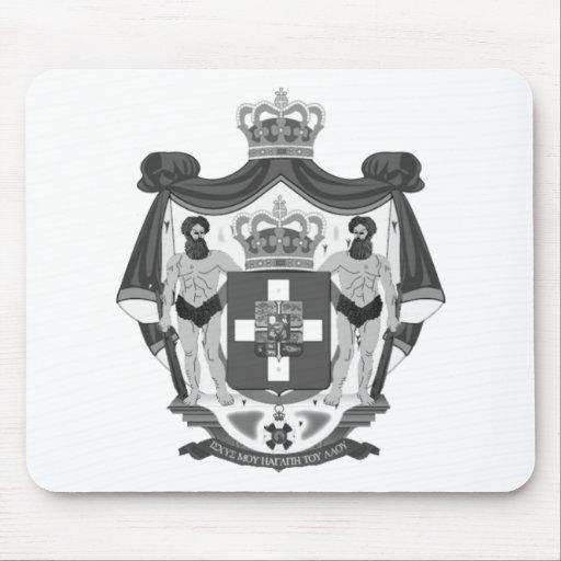 Escudo de armas griego alfombrilla de ratones