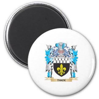 Escudo de armas grueso - escudo de la familia imán para frigorifico