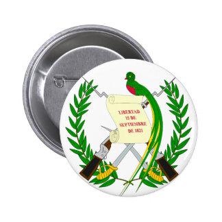 Escudo de armas GT de Guatemala Pin Redondo 5 Cm