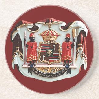 Escudo de armas hawaiano posavasos personalizados