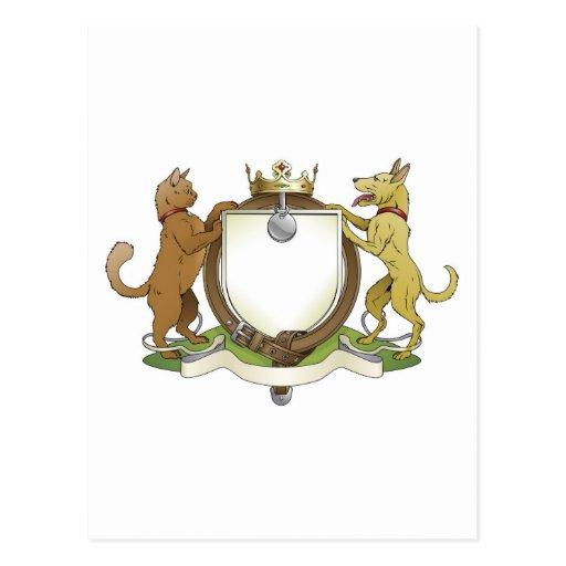 Escudo de armas heráldico del escudo de los tarjetas postales