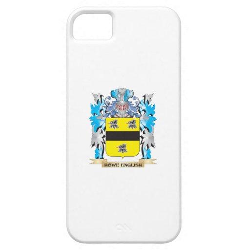 Escudo de armas Howe-Inglés - escudo de la familia iPhone 5 Case-Mate Cárcasa