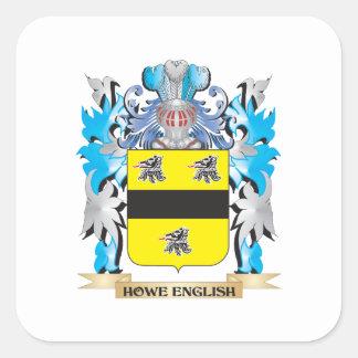 Escudo de armas Howe-Inglés - escudo de la familia Pegatina Cuadrada