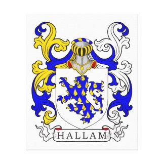 Escudo de armas I de Hallam Lona Envuelta Para Galerias