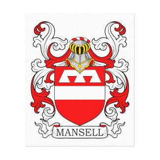 Escudo de armas I de Mansell Lona Estirada Galerias