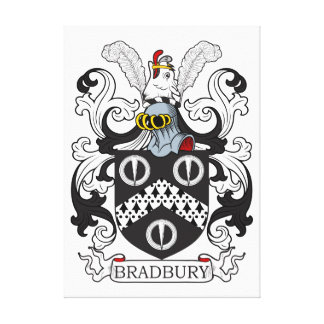 Escudo de armas II de Bradbury Impresión En Lienzo