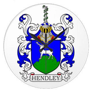 Escudo de armas III de Hendley Reloj De Pared