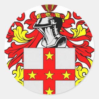 Escudo de armas (inglés) de Adams Pegatina Redonda