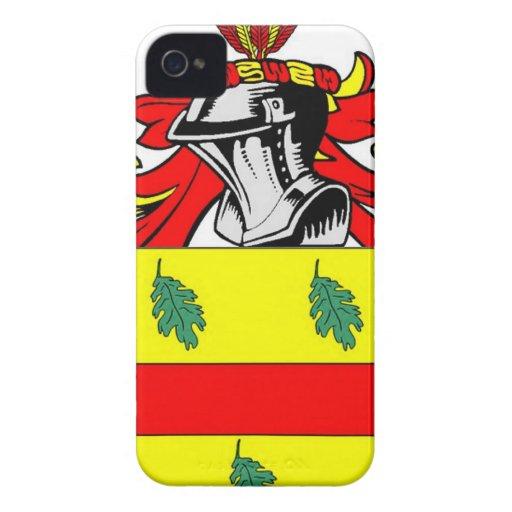 Escudo de armas (inglés) de Allen iPhone 4 Cobertura