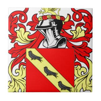 Escudo de armas (inglés) de Collins Azulejo Cuadrado Pequeño