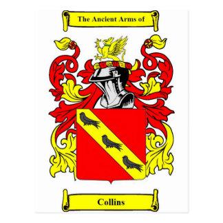 Escudo de armas (inglés) de Collins Tarjeta Postal