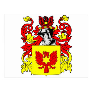 Escudo de armas (inglés) de Custer Tarjetas Postales