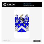 Escudo de armas (inglés) de Edwards iPhone 4 Skins