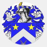 Escudo de armas (inglés) de Edwards Pegatina Redonda