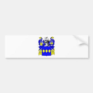 Escudo de armas (inglés) de Freeman Etiqueta De Parachoque