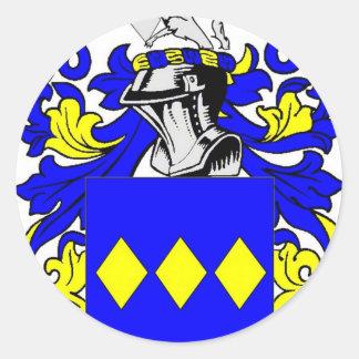 Escudo de armas (inglés) de Freeman Pegatina Redonda
