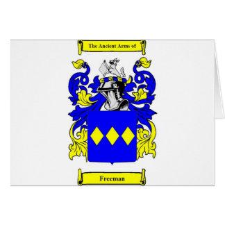 Escudo de armas (inglés) de Freeman Tarjeta De Felicitación