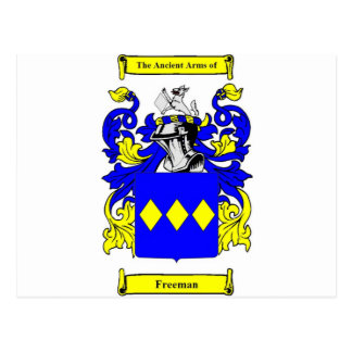 Escudo de armas inglés de Freeman Postal