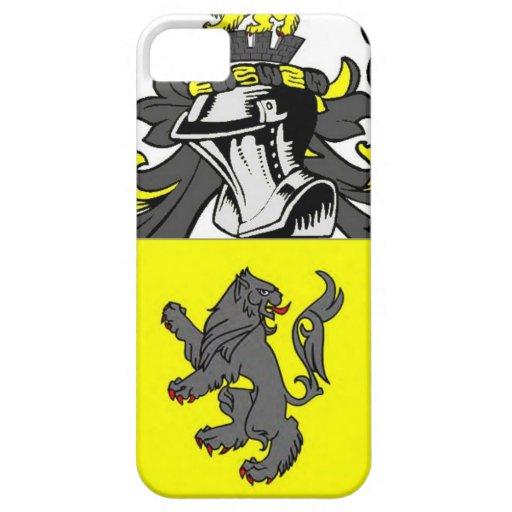 Escudo de armas (inglés) de Jenkins iPhone 5 Case-Mate Cobertura