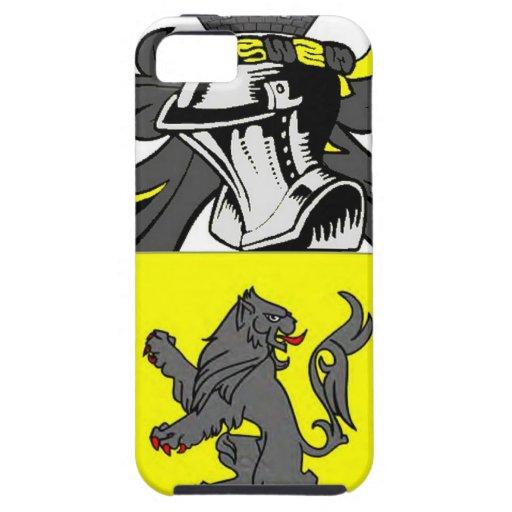 Escudo de armas (inglés) de Jenkins iPhone 5 Case-Mate Cárcasas