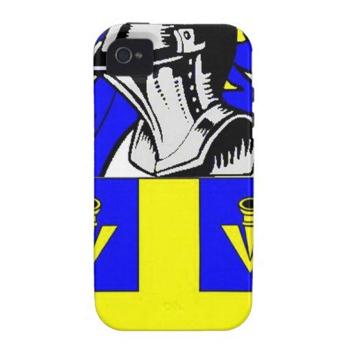 Escudo de armas (inglés) de Johnson Vibe iPhone 4 Funda