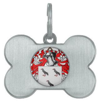 Escudo de armas (inglés) de Jones Placa De Mascota